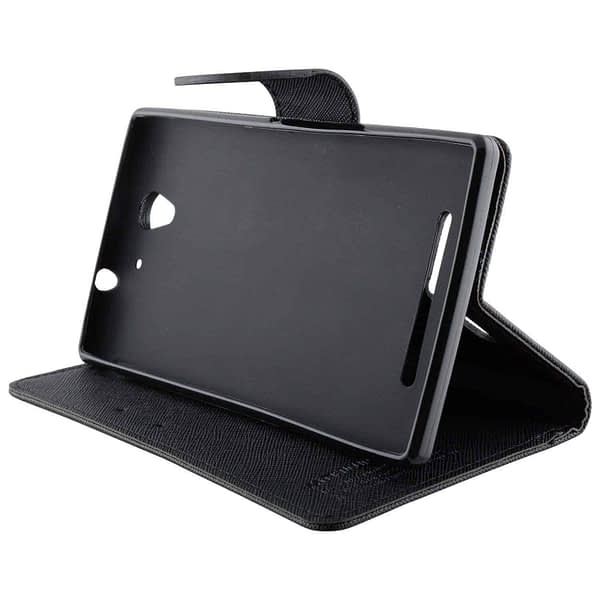 J.N.Mercury Flip Cover For Motorola Moto E - Black 4