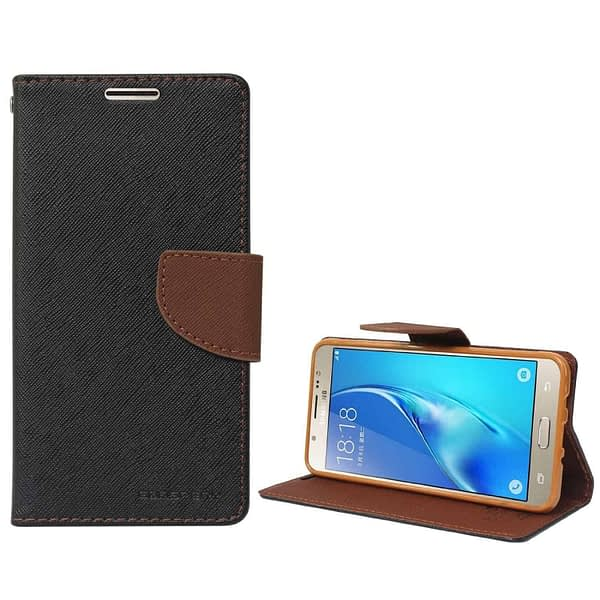 Mercury Goospery Wallet Flip Cover for Xiaomi Redmi 3S Prime (Black and Brown) 6