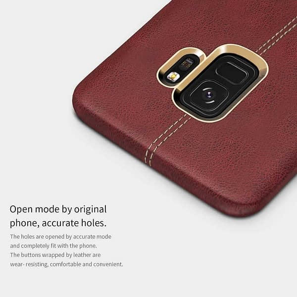 NILLKIN Englon Series Leather Back Cover Case for Samsung Galaxy (Samsung Galaxy S9, Brown) 3