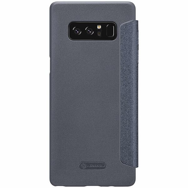 Nillkin Case for Samsung Galaxy Note 8 Sparkle Leather Flip Folio PC Black Color Luxury Leather 5