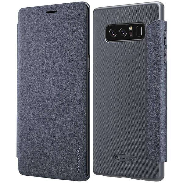 Nillkin Case for Samsung Galaxy Note 8 Sparkle Leather Flip Folio PC Black Color Luxury Leather 1