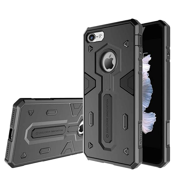 Nillkin Defender-II Dual Layer Shockproof Stand Bumper Back Case Cover for Apple iphone 7 - Black 1