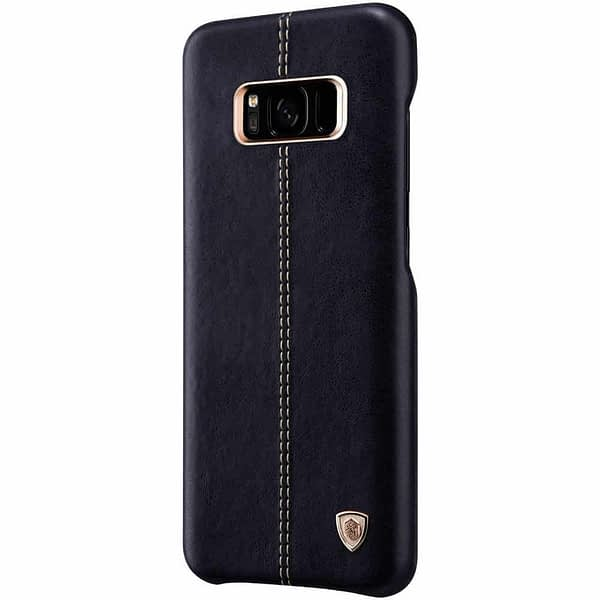 Nillkin Englon Series Luxury Slim Leather Back Cover Case for Samsung S8 Plus (6.2 inch)- Black 3