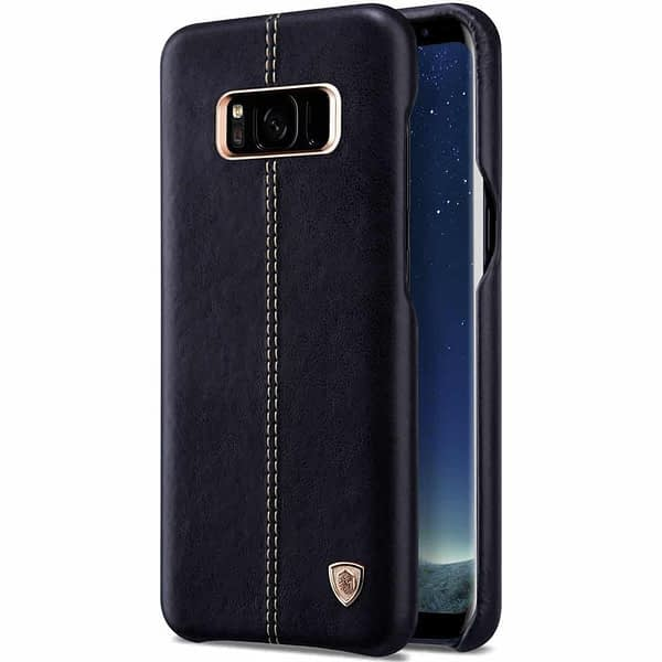 Nillkin Englon Series Luxury Slim Leather Back Cover Case for Samsung S8 Plus (6.2 inch)- Black 6