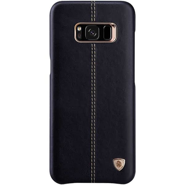 Nillkin Englon Series Luxury Slim Leather Back Cover Case for Samsung S8 Plus (6.2 inch)- Black 1