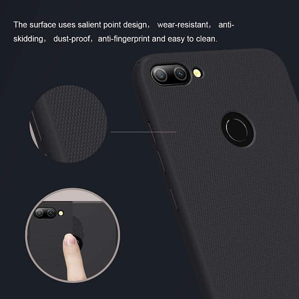 Nillkin Frosted Shield Ultra Thin Plastic Grip Back Cover Case for Honor 9N- (Black) 5