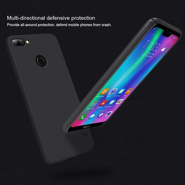 Nillkin Frosted Shield Ultra Thin Plastic Grip Back Cover Case for Honor 9N- (Black) 6