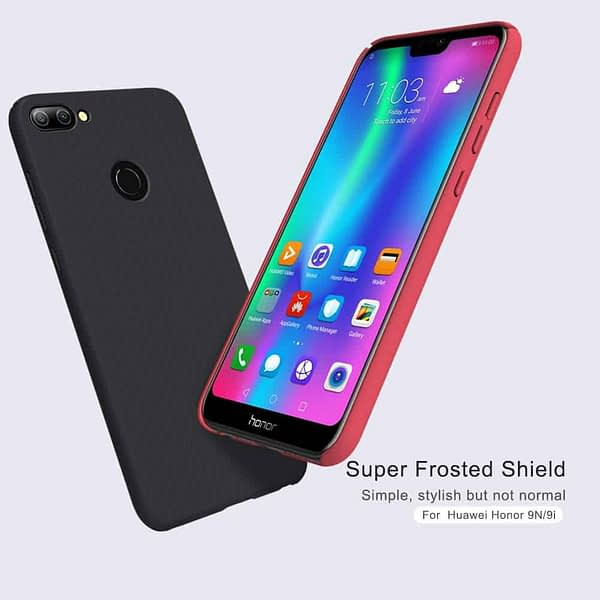 Nillkin Frosted Shield Ultra Thin Plastic Grip Back Cover Case for Honor 9N- (Black) 1