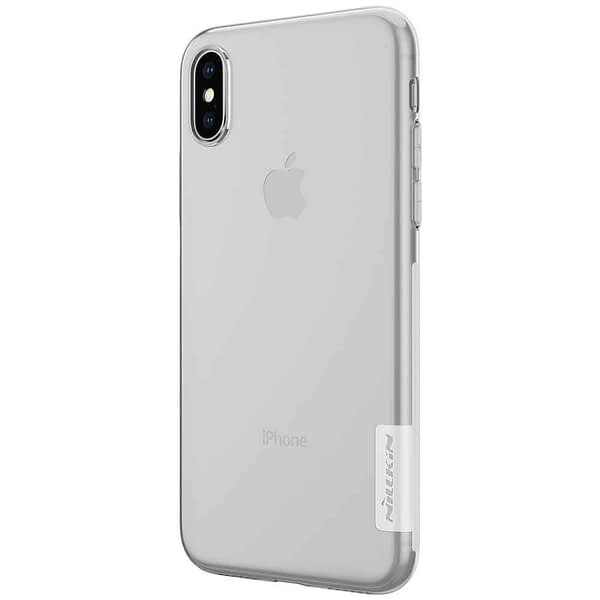 Nillkin Nature Soft TPU Back Cover Case for Apple iPhone X - Transparent White 3