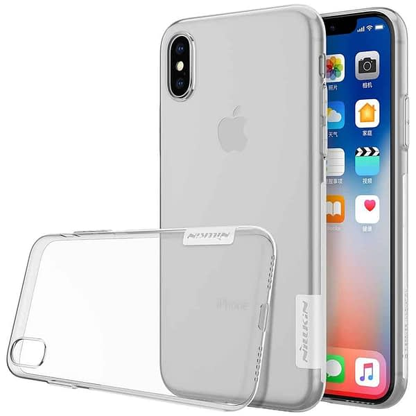 Nillkin Nature Soft TPU Back Cover Case for Apple iPhone X - Transparent White 1