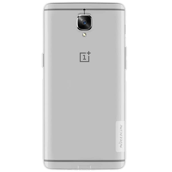 Nillkin Nature Soft TPU Back Cover Case for OnePlus 3 ( 1+3 )- Transparent White 3