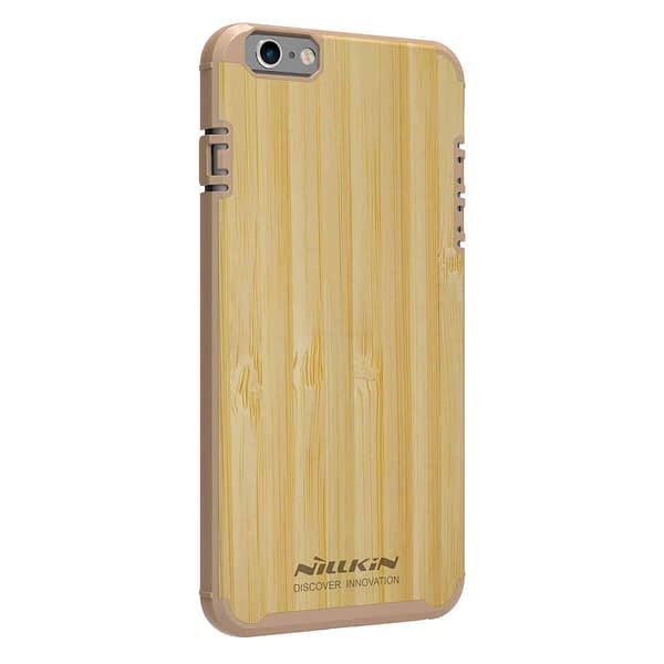 Nillkin Nature Wood Bamboo With PC Slim Back Cover Case for Apple iPhone 6S / iPhone 6 - Gold 3