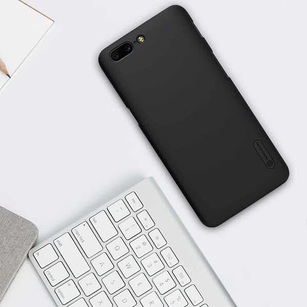 Nillkin Oneplus 5 Case Nillkin Frosted Shield Matte Plastic Slim Fit Case Cover Shell (With Screen Protector Film) (Frosted) (Black) 3