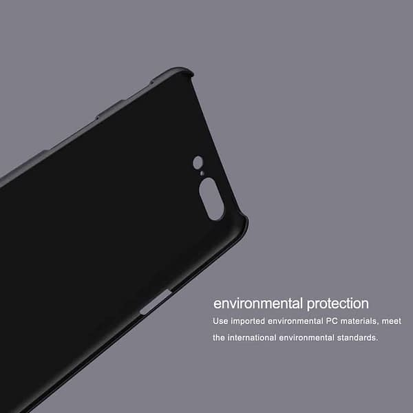 Nillkin Oneplus 5 Case Nillkin Frosted Shield Matte Plastic Slim Fit Case Cover Shell (With Screen Protector Film) (Frosted) (Black) 9