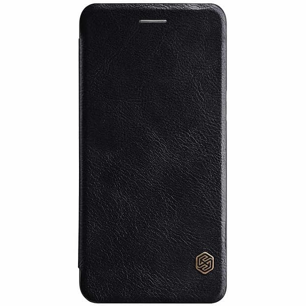 Nillkin Qin Series Royal Leather Flip Case Cover Case For Oneplus 5 - Black 3