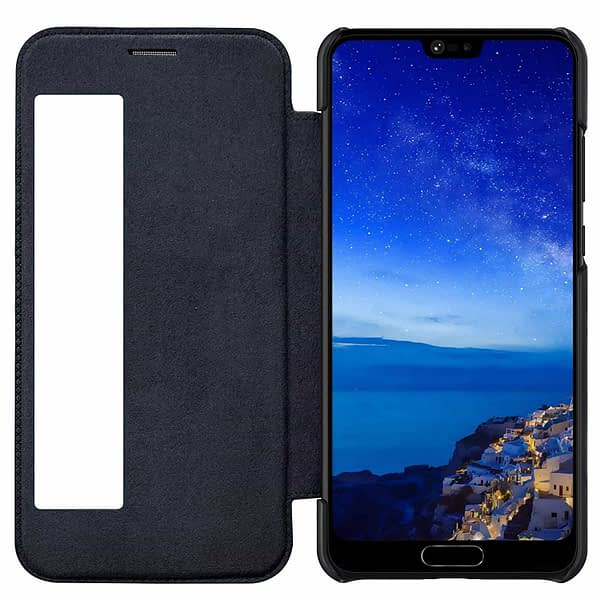 Nillkin Qin Series Royal Leather Flip Case Cover for Huawei P20 Pro(Black) 3