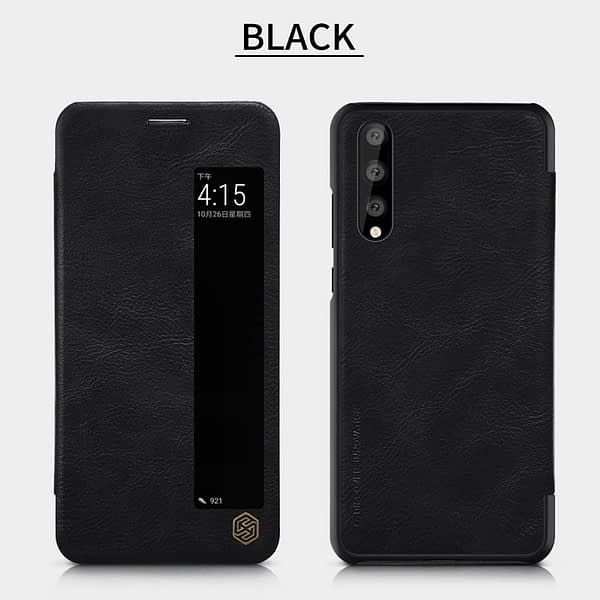 Nillkin Qin Series Royal Leather Flip Case Cover for Huawei P20 Pro(Black) 7