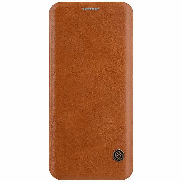 Nillkin Qin Series Royal Leather Flip Case Cover for Samsung Galaxy S9 (BROWN) 5