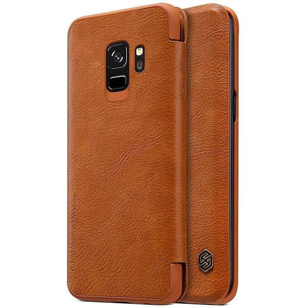 Nillkin Qin Series Royal Leather Flip Case Cover for Samsung Galaxy S9 (BROWN) 1