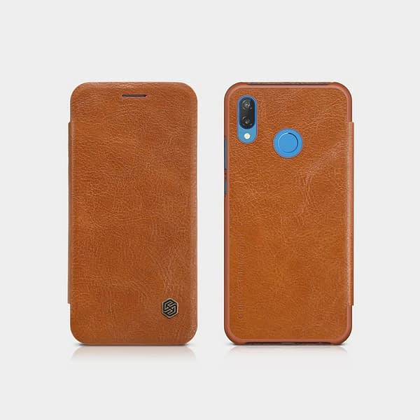 Nillkin Qin Series Royal Leather Flip Case for Huawei P20 Lite(Brown) 7
