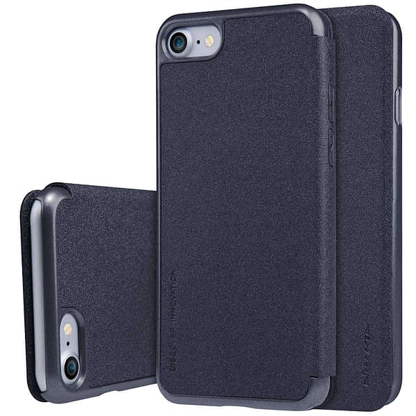Nillkin Sparkle Series Flip Cover Case for Apple iPhone 8 / iPhone 7 - Grey Color 1