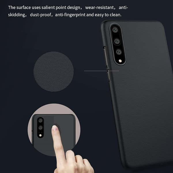 Nillkin Super Frosted Shield Hard Back Cover Case for Huawei P20 Pro(Black) 6
