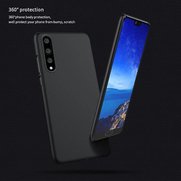 Nillkin Super Frosted Shield Hard Back Cover Case for Huawei P20 Pro(Black) 8
