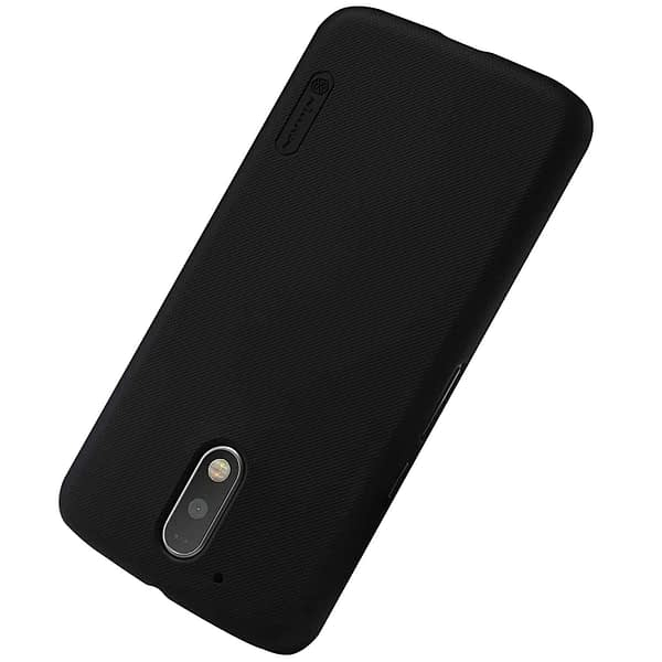 Nillkin Super Frosted Shield Hard Back Cover Case for Motorola Moto G4 Plus (Black Color) With Screen guard 5
