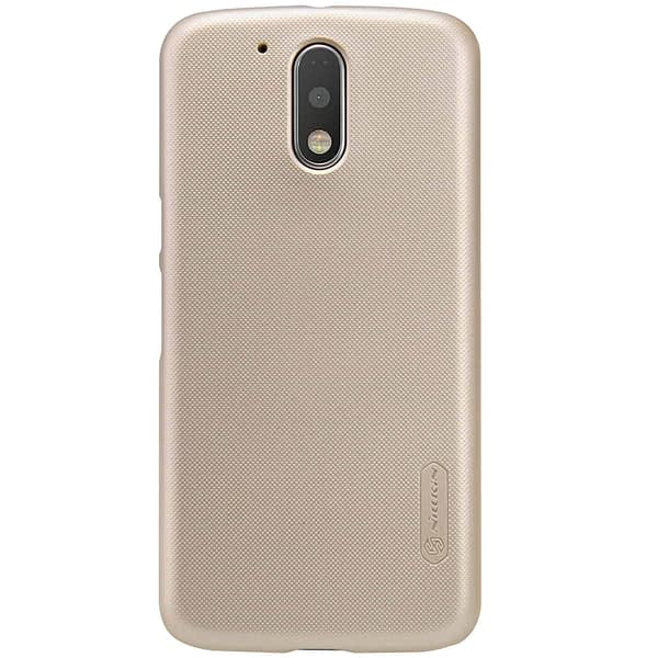 Nillkin Super Frosted Shield Hard Back Cover Case for Motorola Moto G4 Plus , Free Screen guard-GOLD 3