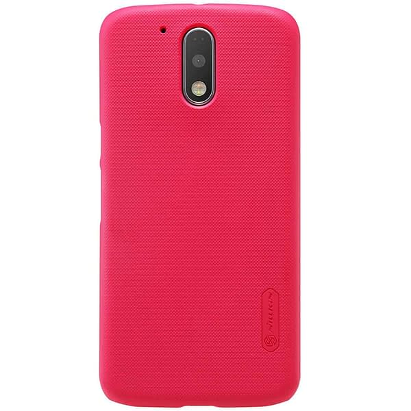 Nillkin Super Frosted Shield Hard Back Cover Case for Motorola Moto G4 Plus , Free Screen guard-RED 3