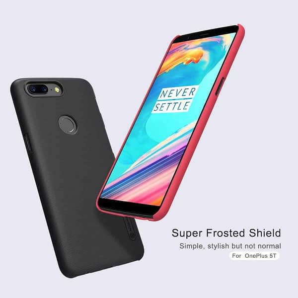 Nillkin Super Frosted Shield Hard Back Cover Case for Oneplus 5T- BLACK 3