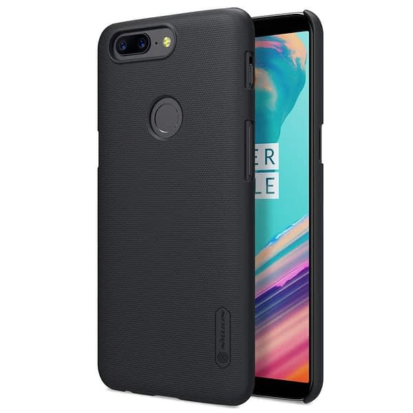 Nillkin Super Frosted Shield Hard Back Cover Case for Oneplus 5T- BLACK 1