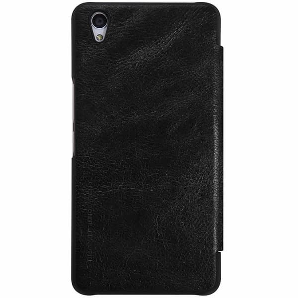 OnePlus X Case, Nillkin[Sleep/Wake Function][Inside Slot][Ultra thin]Qin Series Flip Up Leather Wallet Case For OnePlus X-Retail Package Black 4