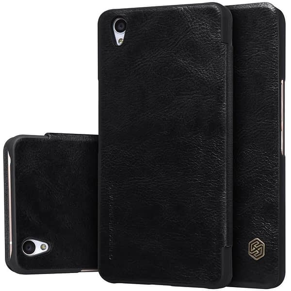OnePlus X Case, Nillkin[Sleep/Wake Function][Inside Slot][Ultra thin]Qin Series Flip Up Leather Wallet Case For OnePlus X-Retail Package Black 1