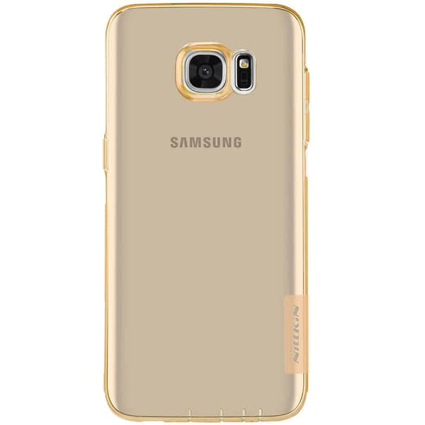 Original Nillkin 0.6MM Nature Soft TPU Flexible Back Cover Case for Samsung Galaxy S7 Edge - ( Brown Color ) 5