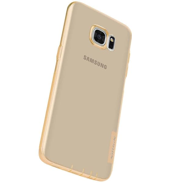 Original Nillkin 0.6MM Nature Soft TPU Flexible Back Cover Case for Samsung Galaxy S7 Edge - ( Brown Color ) 7