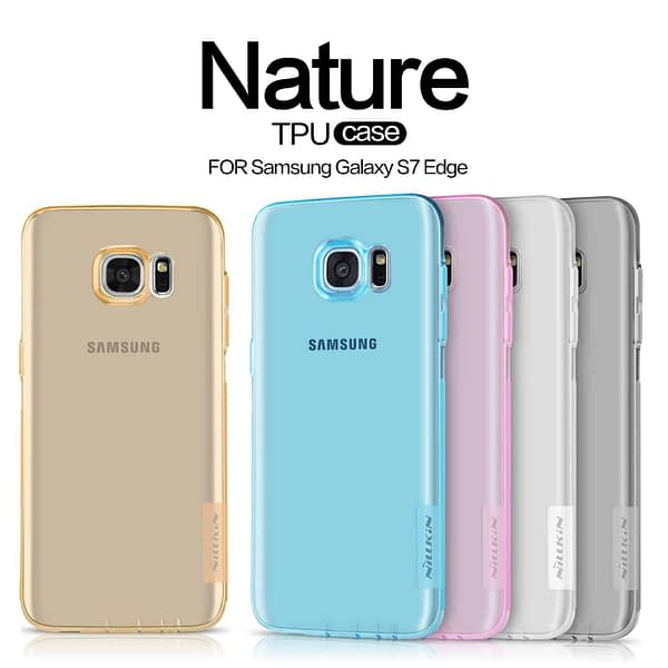 Original Nillkin 0.6MM Nature Soft TPU Flexible Back Cover Case for Samsung Galaxy S7 Edge - ( Brown Color ) 10