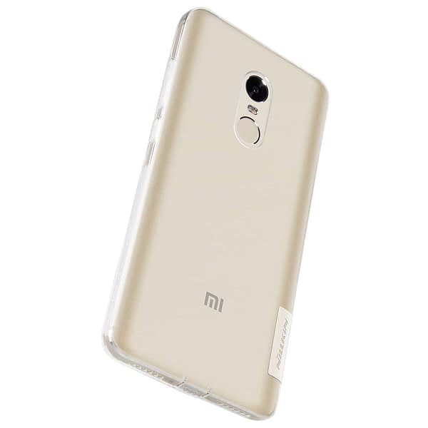 Original Nillkin 0.6MM Nature Soft TPU Flexible Back Cover Case for Xiaomi Redmi Note 4 - ( Transparent / White Color ) 6