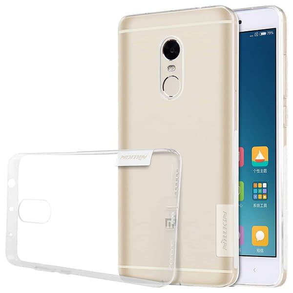 Original Nillkin 0.6MM Nature Soft TPU Flexible Back Cover Case for Xiaomi Redmi Note 4 - ( Transparent / White Color ) 1