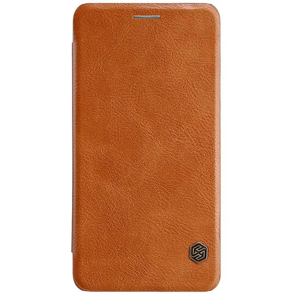 Original Nillkin Qin Series Ultra Thin Luxury Leather Wallet Flipcover for Samsung Galaxy J7 Max (5.7 inch)- Brown 1