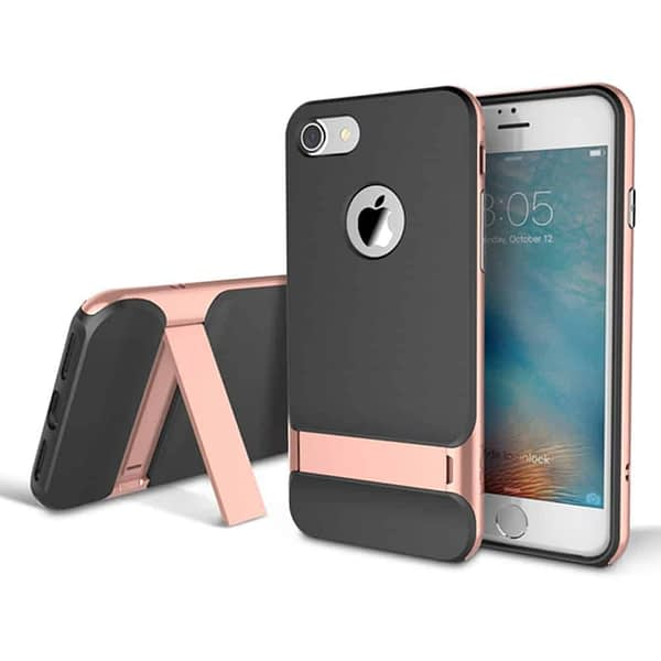 Rock Royce Kickstand Back Case Cover For Iphone 6/6s - Rose Gold 1