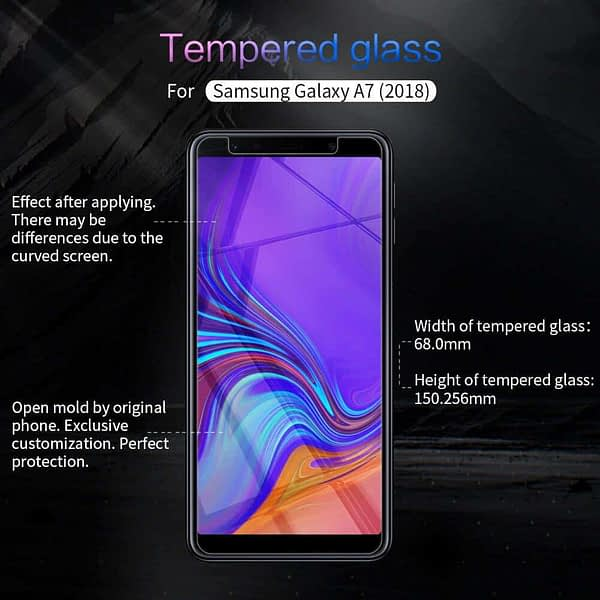Royal Star 2.5D Curved Edge 0.33mm 9H Tempered Glass Screen Protector Guard for (Samsung Galaxy A7 (2018 Model), Pack of 3Pcs) 3