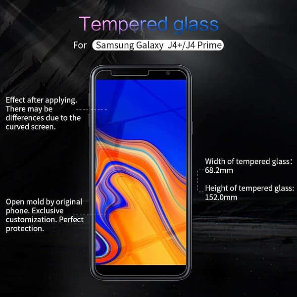 Royal Star 2.5D Curved Edge 0.33mm 9H Tempered Glass Screen Protector Guard for (Samsung Galaxy J4 Plus, Pack of 4Pcs) 3