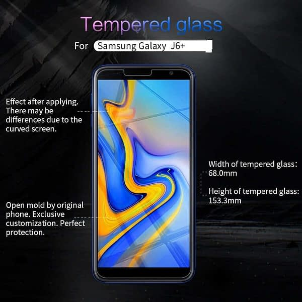 Royal Star 2.5D Curved Edge 0.33mm 9H Tempered Glass Screen Protector Guard for (Samsung Galaxy J6 Plus, Pack of 4Pcs) 6