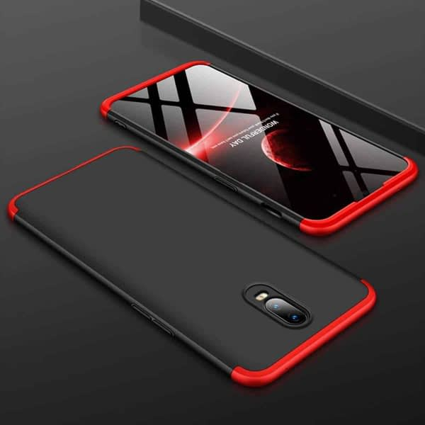 Royal Star 3 in 1 Luxury Design Full Body Protection Hybrid Matte Finish Hard Bumper Back Cover Case (OnePlus 6T, Black & Red (3 in 1)) 9