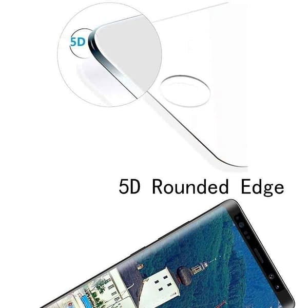Royal Star 5D Curved 0.2mm Thin 9H (Full Glue) Screen Tempered Glass Protector Guard for (Samsung Galaxy Note 9, Black) 5