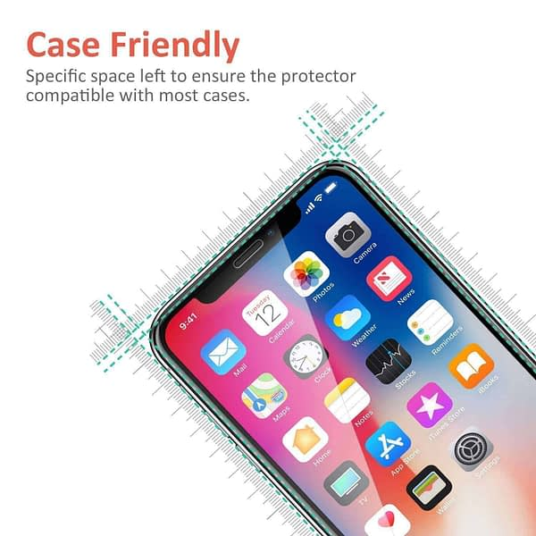 Royal Star 9D Curved (Anti-Blue Ray) 9H Full Coverage Screen Tempered Glass Protector Guard for Apple iPhone X/Apple iPhone Xs 4