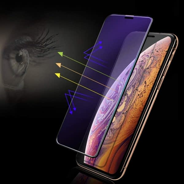Royal Star 9D Curved (Anti-Blue Ray) 9H Full Coverage Screen Tempered Glass Protector Guard for Apple iPhone X/Apple iPhone Xs (Black (Anti Blue)) 3