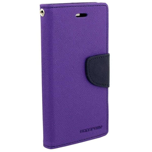 Royal Star Full Protection Fancy Diary Card Wallet Stand View Flip Case Back Cover for (Micromax Canvas Sliver 5 Q450, Purple) 1