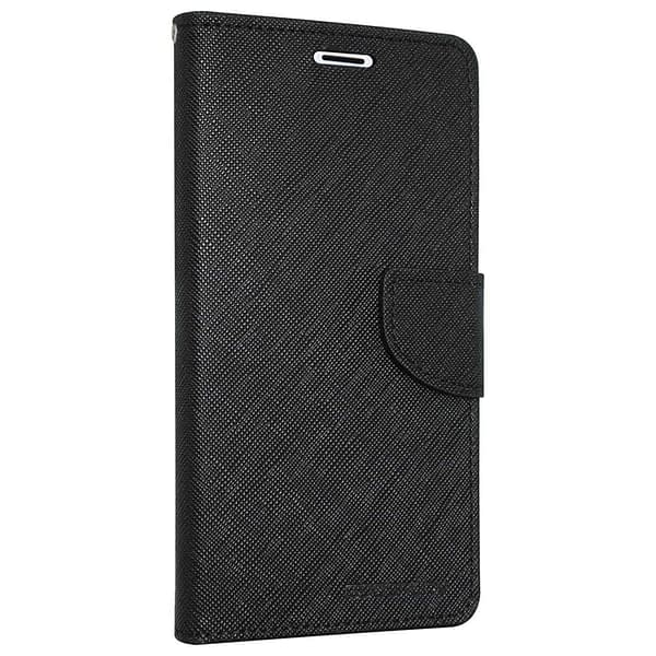 Royal Star Full Protection Fancy Diary Card Wallet Stand View Flip Case Back Cover for (OnePlus 6T, Black) 1